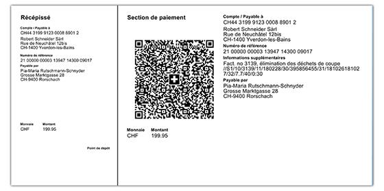 Exemple de facture QR