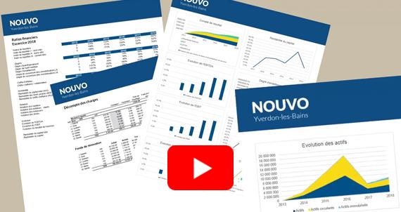 Video présentant la production des états financiers et budgets dans Excel à partir de Crésus Comptabilité.